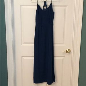 Navy JCrew maxi dress
